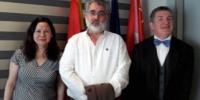Reunión entre el portavoz de Sanidad, Eduardo Raboso y el Presidente de ADEFARMA, Cristóbal López de la Manzanara