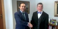 Reunión entre el Presidente de COFARES, Eduardo Pastor y el Presidente de ADEFARMA, Cristóbal López de la  Manzanara.